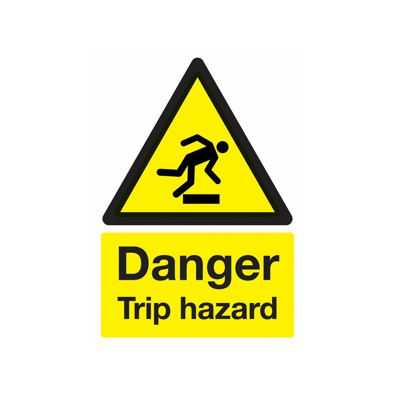 Buy your Danger Trip Hazard Signs online with Safety Nigeria - Warn visitors and employees of potential tripping and falling haz