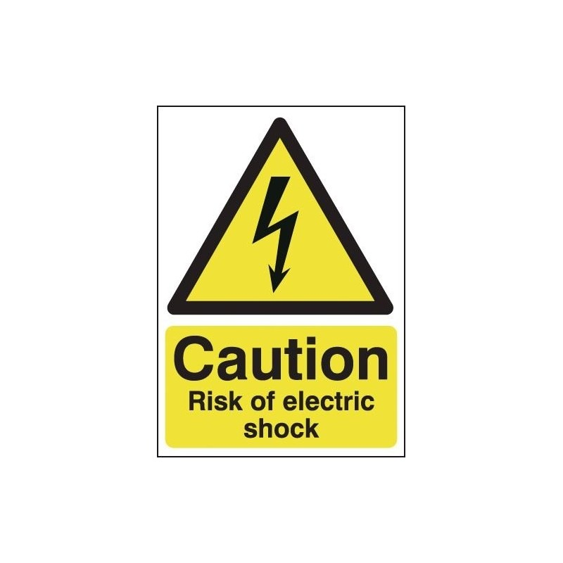 Buy your Caution Risk Of Electric Shock Signs online with Safety Nigeria - Perfect for marking electrical danger areas - Safety