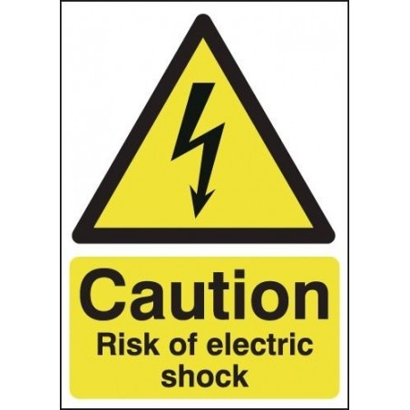 Caution Risk Of Electric Shock Signs