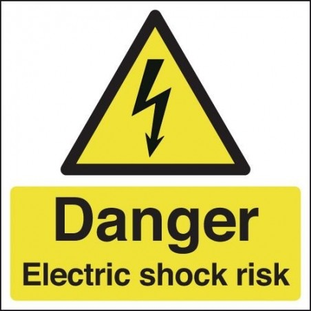 Danger Electric Shock Risk Signs