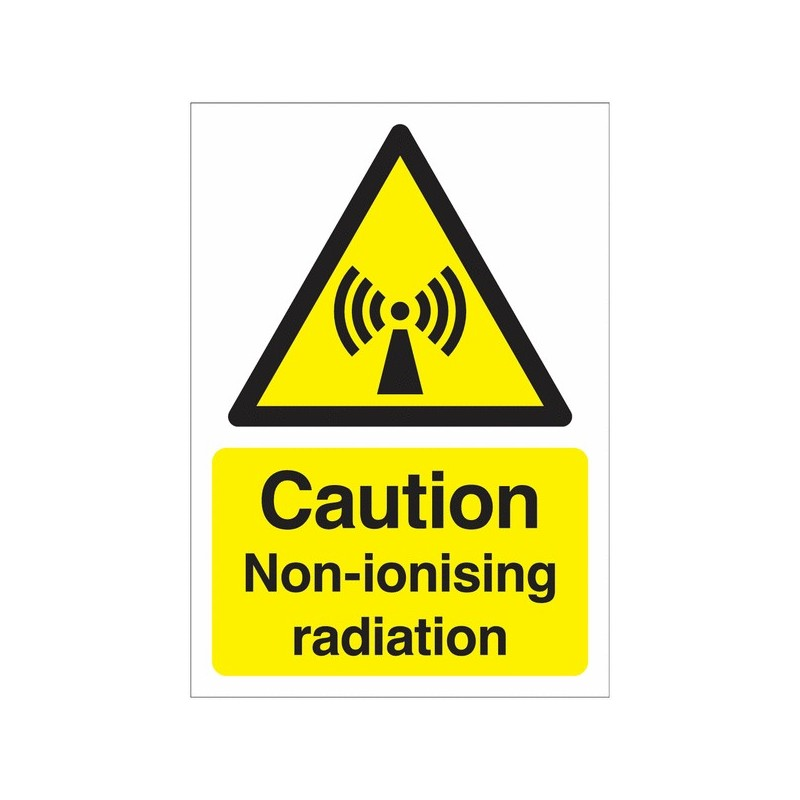 Buy your Caution Non-Ionising Radiation online at safety nigeria -  Warn visitors and employees of potential radiation hazards