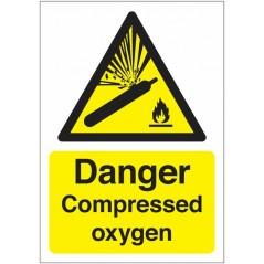 Danger Compressed Oxygen Signs