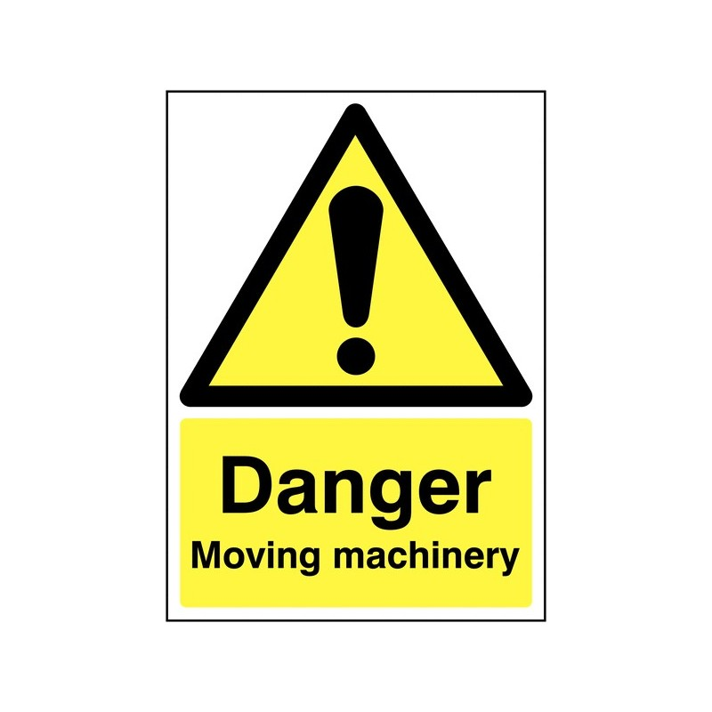 Buy your Danger Moving Machinery Sign online at safety nigeria - Identify and warn staff and visitors of moving machinery
