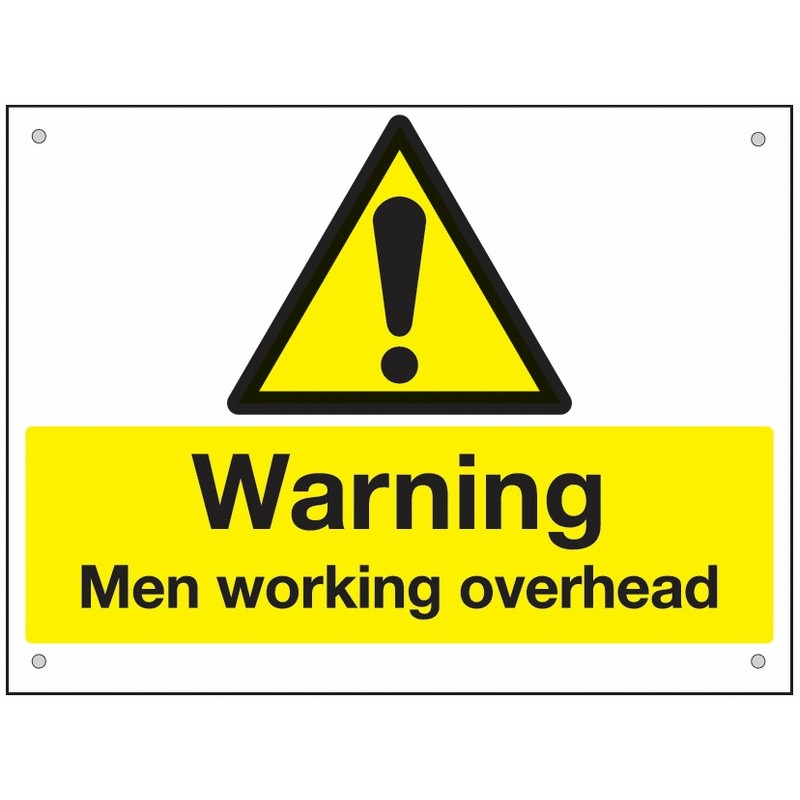 Buy your Warning Men Working Overhead online at safety nigeria - Clearly inform staff & visitors of work taking place overhead