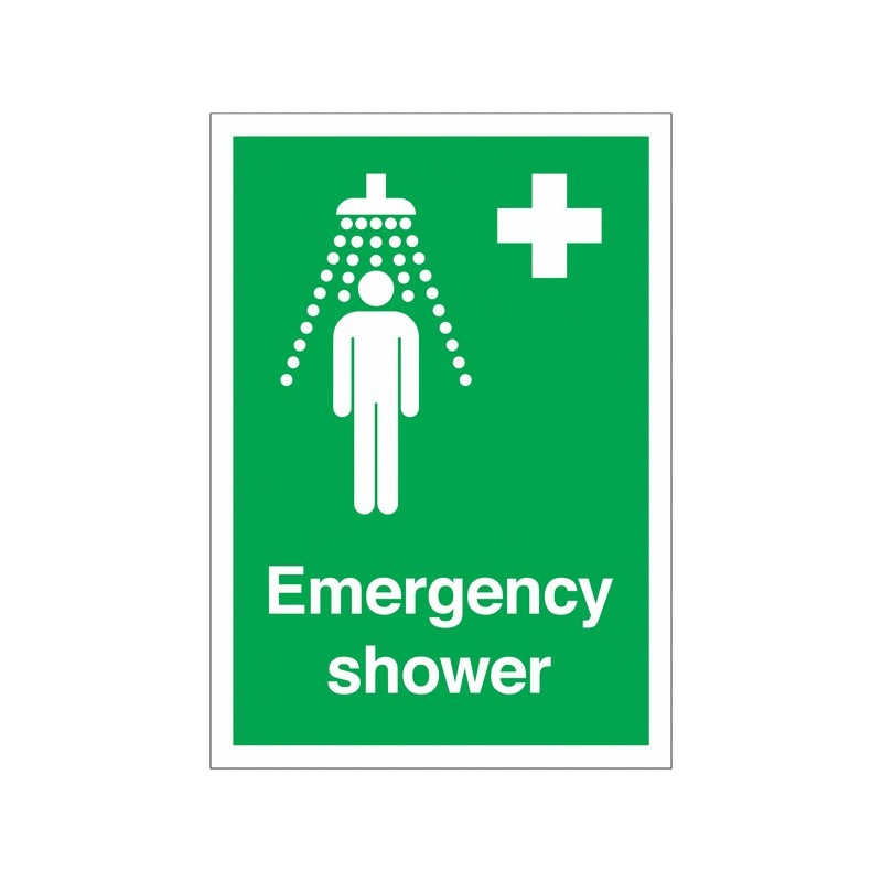Buy your Emergency Shower Signs online at safety nigeria - Indicate clearly where your emergency showers are located