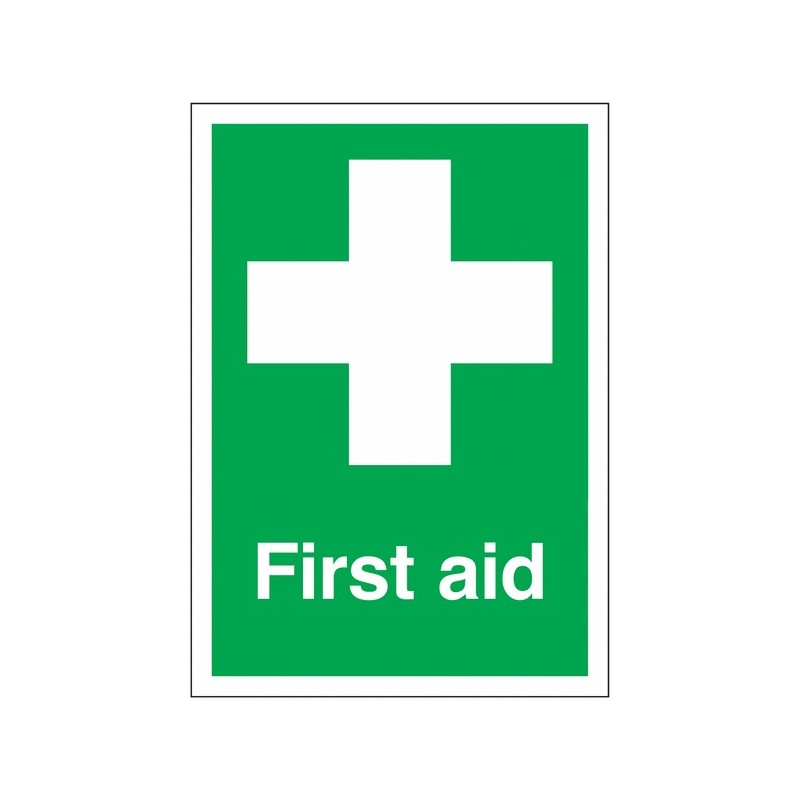 Buy your First Aid Signs online at safety nigeria - Indicate clearly where your first aid equipment is located - Order from Indu