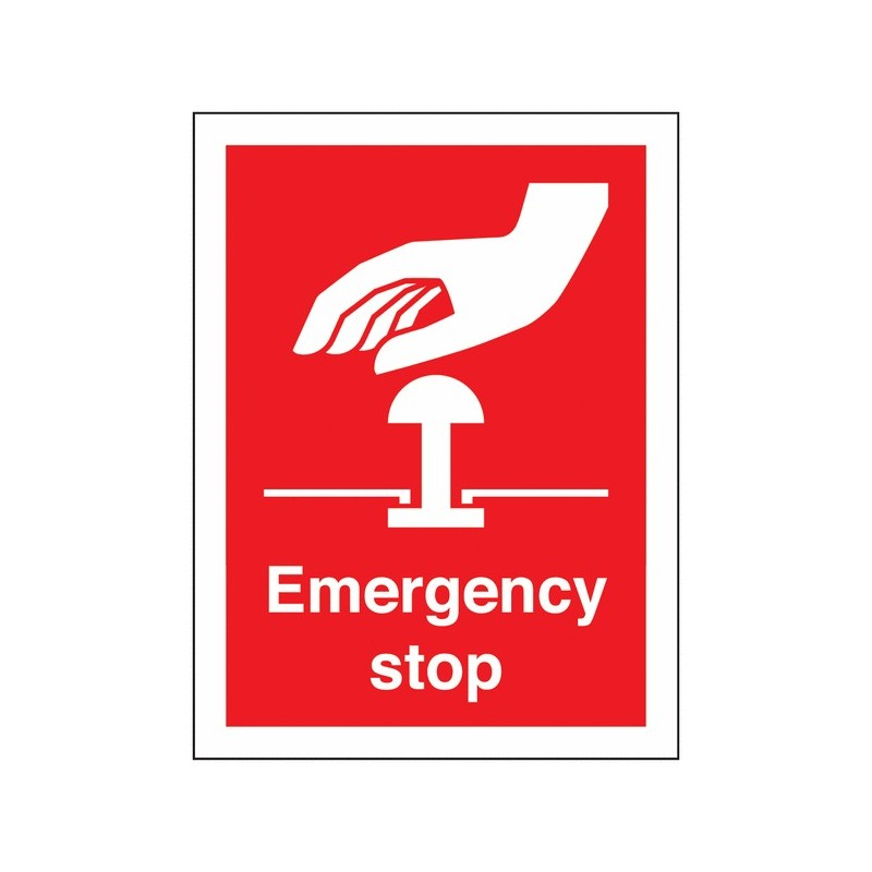 Buy your Emergency Stop Sign online at safety nigeria - Clearly highlight where any Emergency Stop Push Buttons are - Order from
