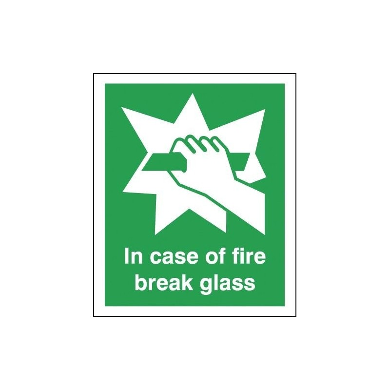 Buy your In Case Of Fire Break Glass Signs online with Safety nigeria - Clearly identify the location of your fire alarm
