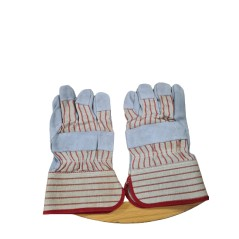 Leather Palm Combination Safety Hand Glove