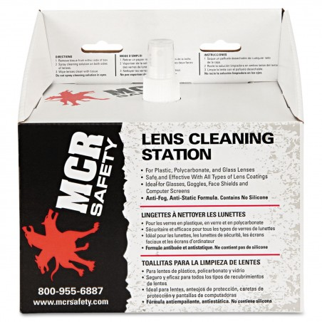 MCR LCS1 Disposable Safety Glasses Lens Cleaning Station