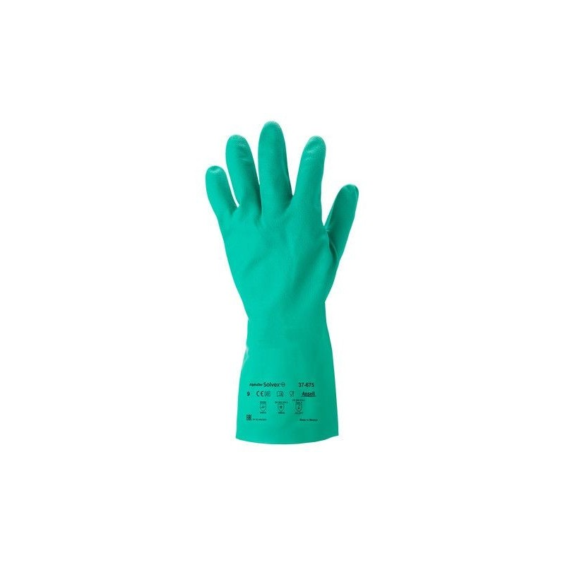 Ansell Alphatec Solvex 37-675 Nitrile Chemical Resistant Hand Glove