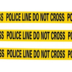 """Thermsafe Police Line Do Not Cross Caution Tape 3"""" X 500m"""