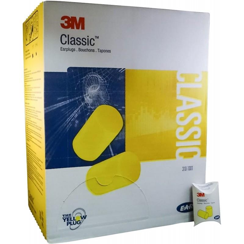 3M 310-1001 EAR Classic Regular Disposable Foam Uncorded Earplugs, 200 Pairs per box