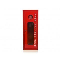 Red Break Glass Fire Extinguisher Cabinet