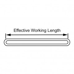 6 Ton Round Polyester Endless Tubular Webbing Sling 'Single Sleeve'