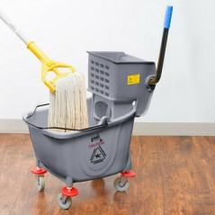 36L Industrial Mop Bucket gray