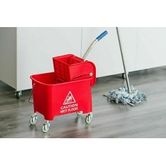 36L Industrial Mop Bucket red