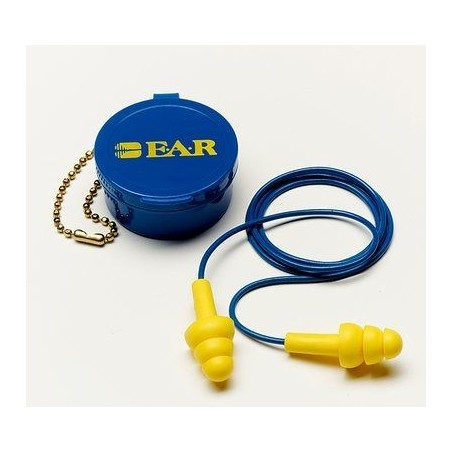 3M E - A - R UltraFit Corded Earplug 340-4002 with Carrying Case
