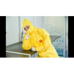 Dupont Tychem 2000 C Yellow Chemical Coverall model CHA5 TCCHA5TYL00
