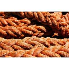 8 Strand Braided Polypropylene Mooring Rope orange