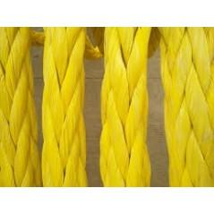 8 Strand Braided Polypropylene Mooring Rope yellow