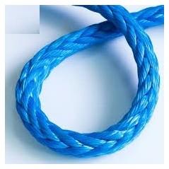 8 Strand Braided Polypropylene Mooring Rope blue