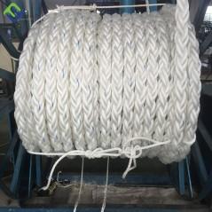 8 Strand Braided Polypropylene Mooring Rope white