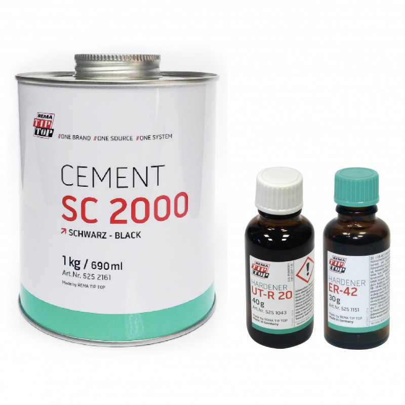 REMA Tip Top SC 2000 Black Cement - Highly Versatile Cold Vulcanizing Adhesive