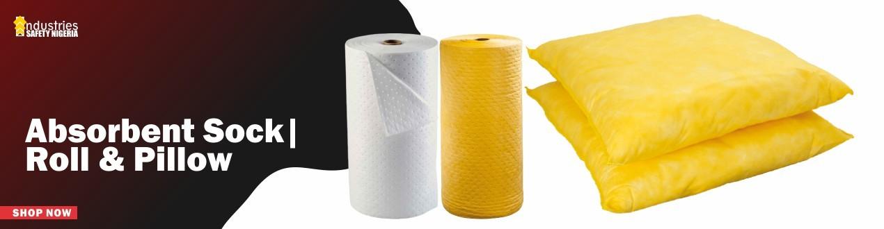 Absorbent Sock, Roll & Pillow