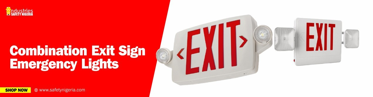 Combination Exit Sign Emergency Lights