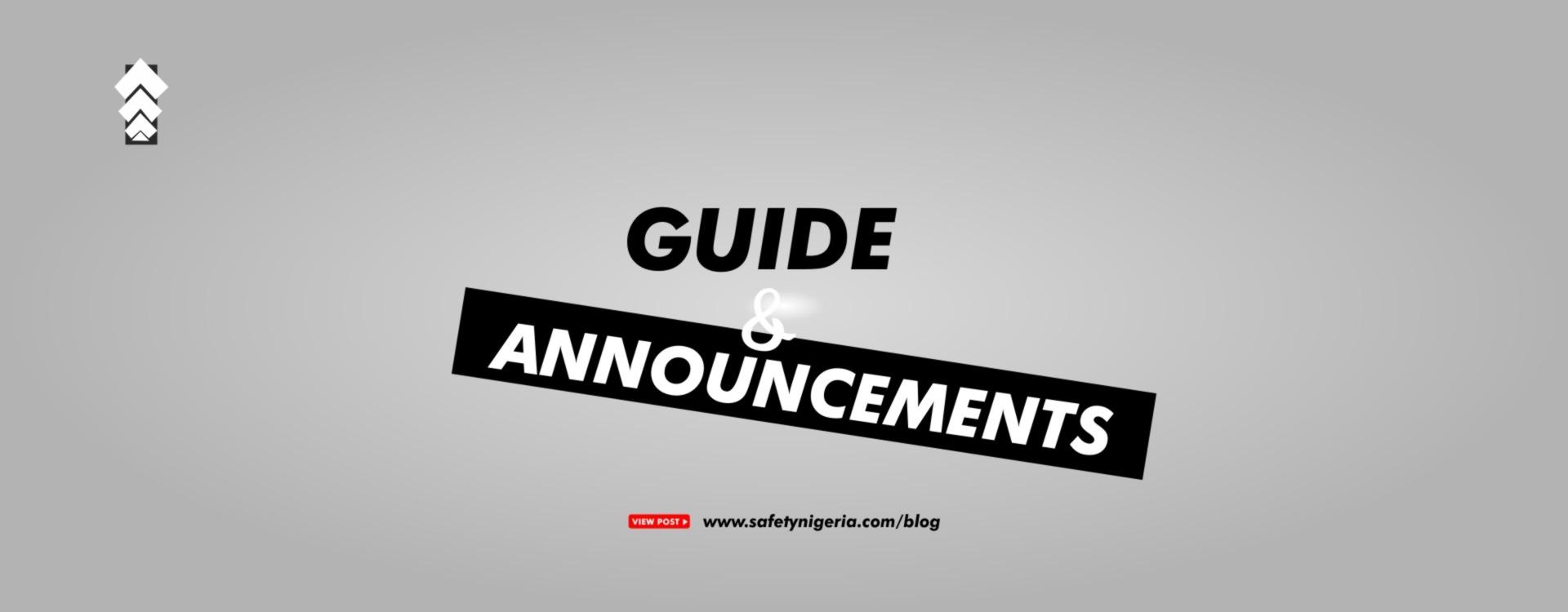 Guide/Announcement
